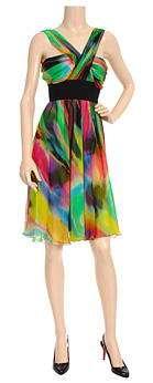 vestido colorista dolce gabbana