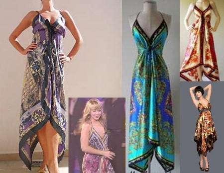 vestidos scarf print