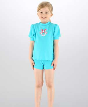 traje azul speedo niña