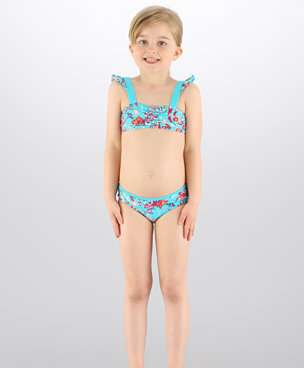 bikini azul speedo niña