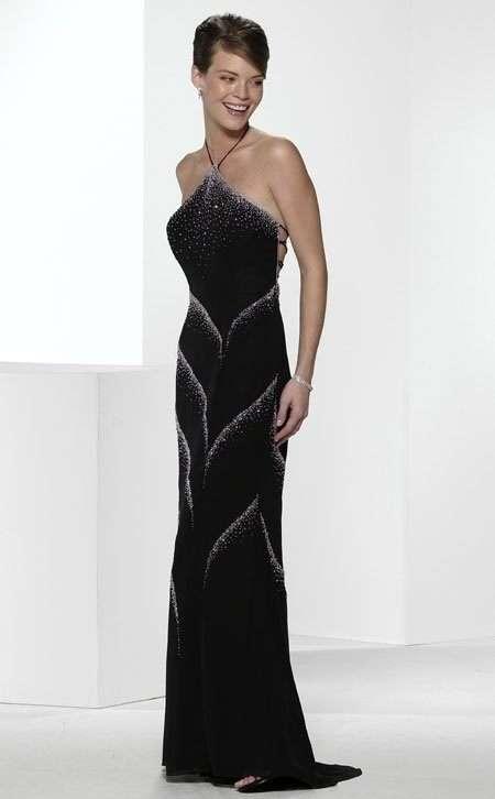 vestido de noche oscuro