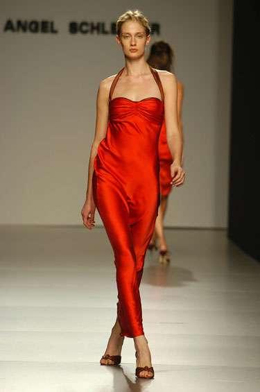 vestidos de noche rojo ligero