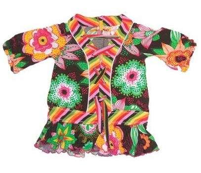 camisa flores niña plumetas