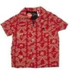 camisa rojo plumetas