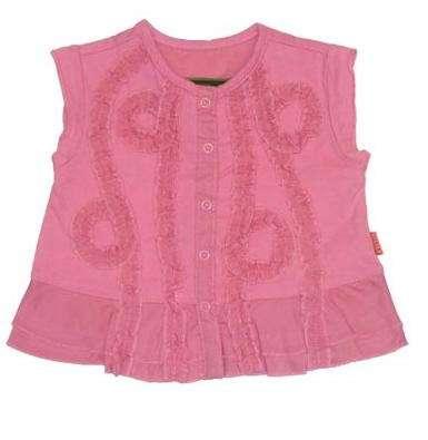 camisa rosa niña plumetas