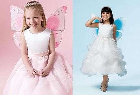 Vestidos de fiesta para niñas con forma de mariposa | Mas de Moda