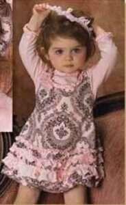 vestido rosa y gris niña fiesta