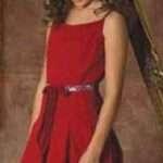 otro vestido rojo niña fiesta