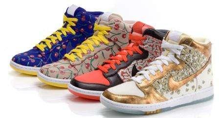 zapatos nike con mariposas