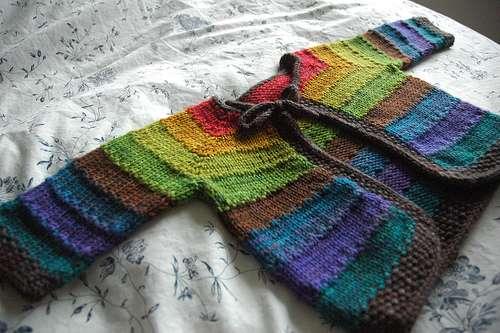 chaqueta multicolor
