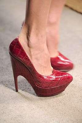 zapato rojo diseño