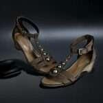 estefanía marco primavera verano sandalia plana marrón