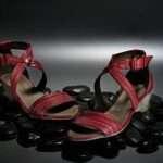 estefanía marco primavera verano sandalia roja al tobillo