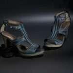 estefanía marco primavera verano sandalia tacón azul