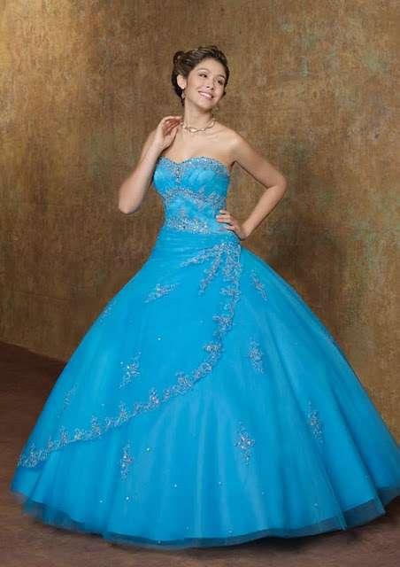 Azul agua vestidos de xv