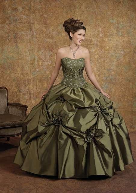 Vestidos largos color verde petroleo