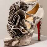 Christian Louboutin Python Ruffle stiletto platform shoes1