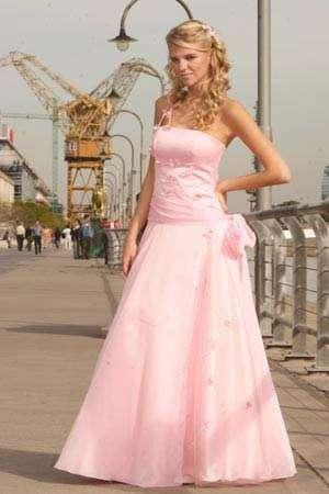 Vestidos de 15 blanco y rosa precio
