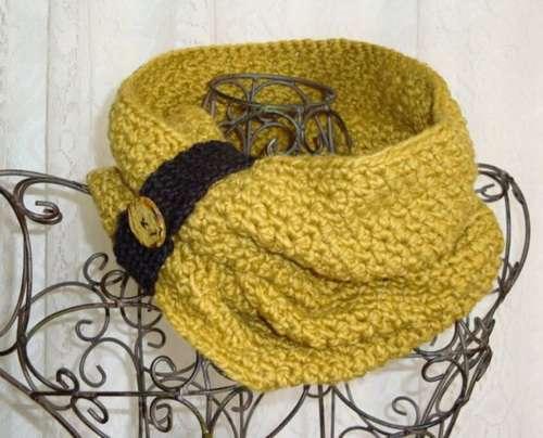Los cuellos de crochet , son muchos más calientes, y se pueden usar