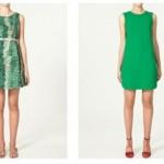Zara y sus vestidos en verde