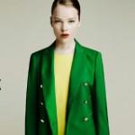 zara chaqueta color verde