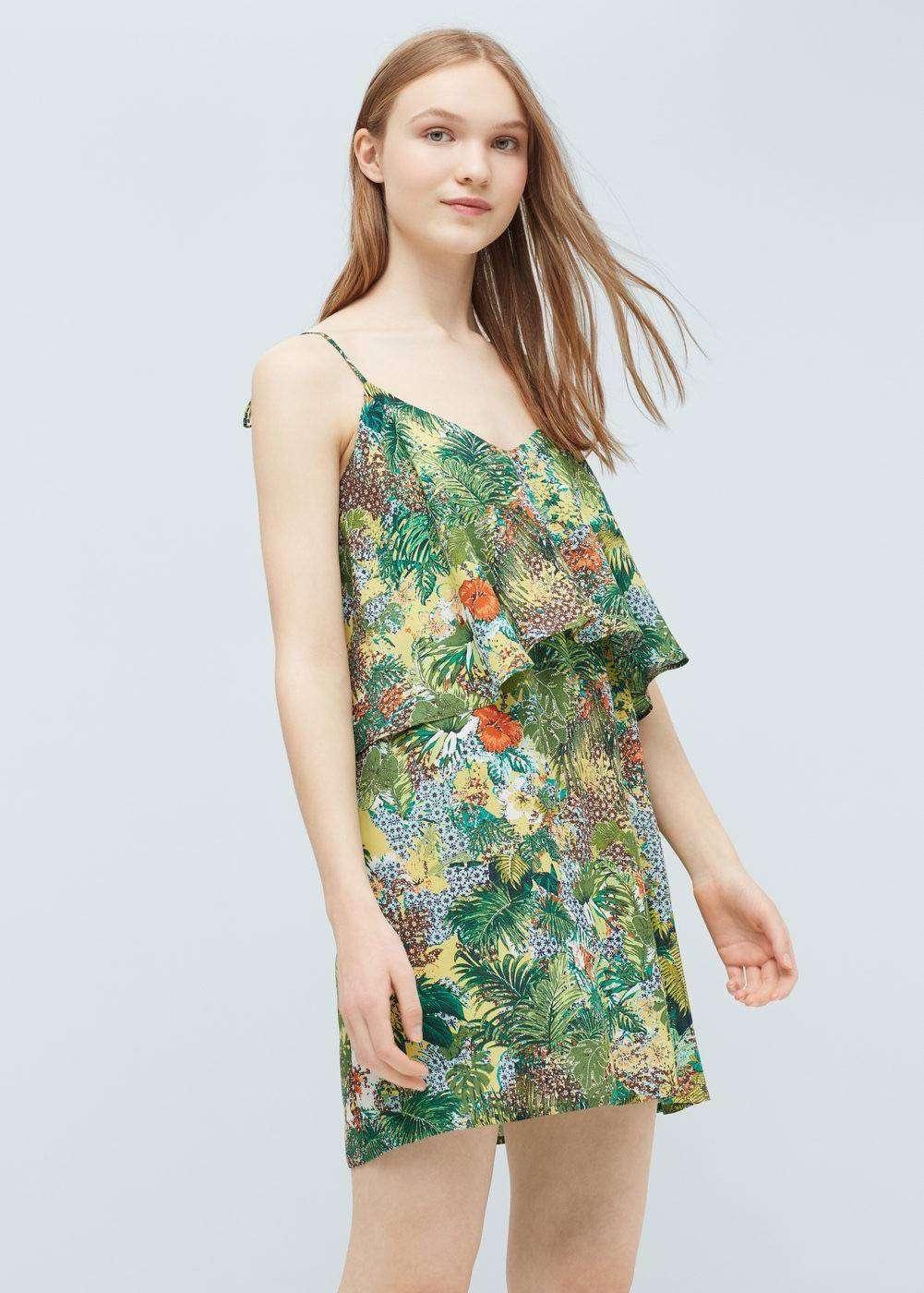 vestidos de verano - Vestido con volante de MANGO