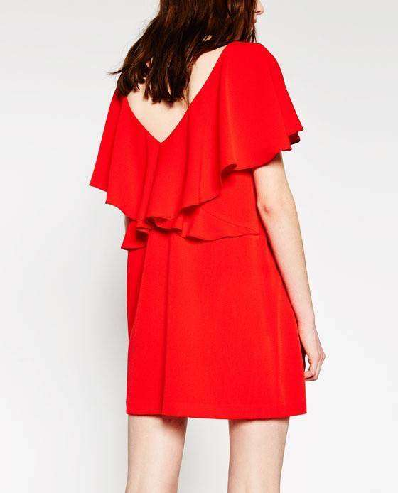 vestidos de verano - Vestido rojo de ZARA / 29,95€