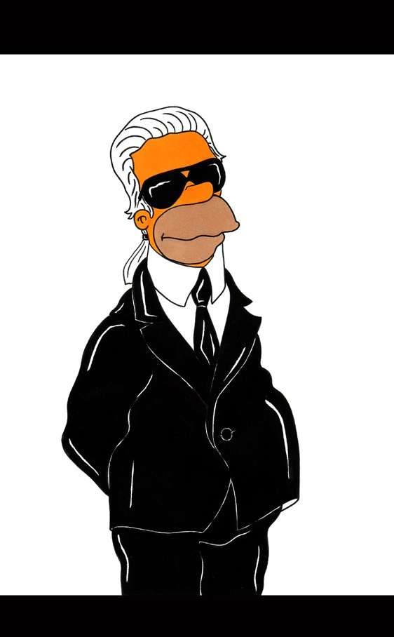 Homer como Karl Lagerfield