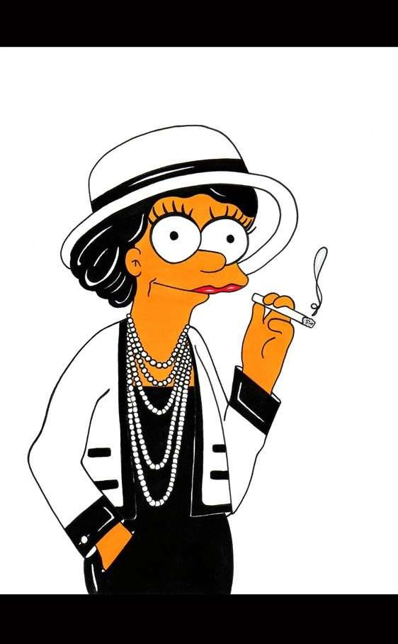 Marge como Coco Chanel