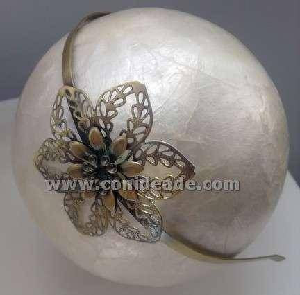 Diadema vintage flor en color bronce