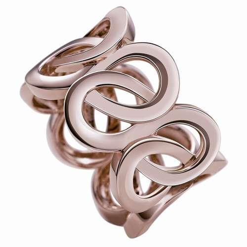 Montblanc Collection Princesse Grace de Monaco Petales Entrelaces motif ring pink gold