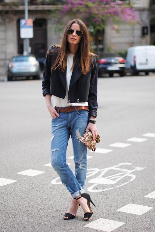 black+sandals+zara+HM+navy+blue+jacket+brown+belt