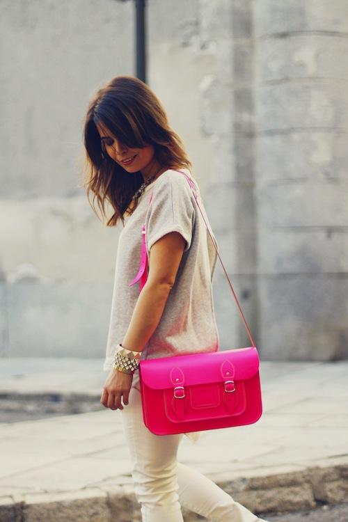 Pink satchel fluor street style stella rittwagen collagevintage stylisim 19