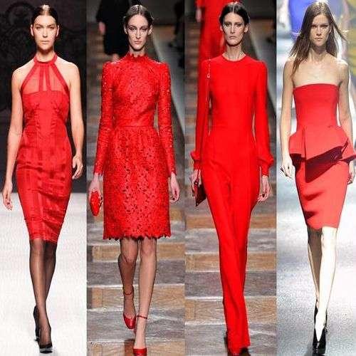 Tendencias del color rojo