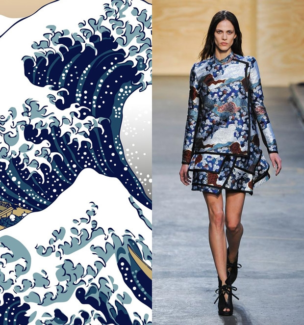 GreatWaveOrientalDress