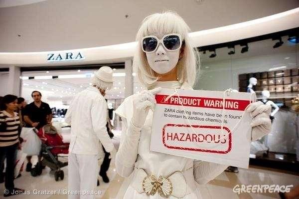 La moda toxica de Zara combatida por Greenpeace