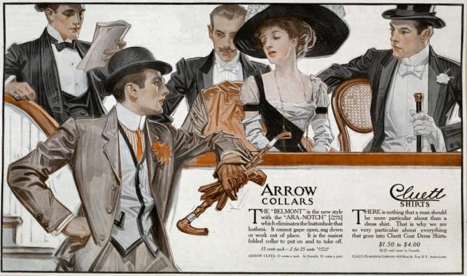 Vintage mens clothing ads
