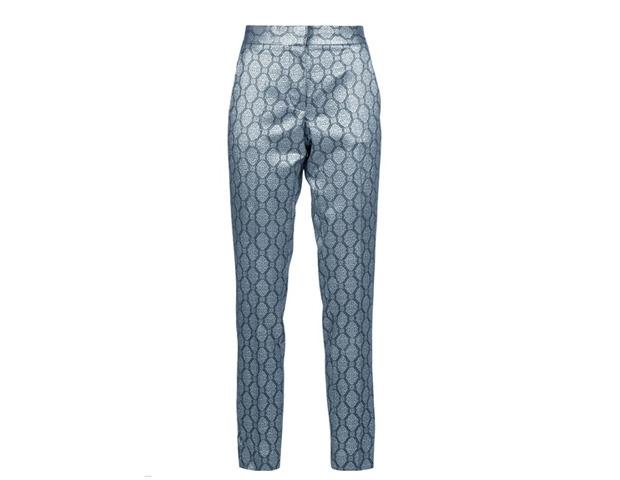 pantalones estampados metalizados