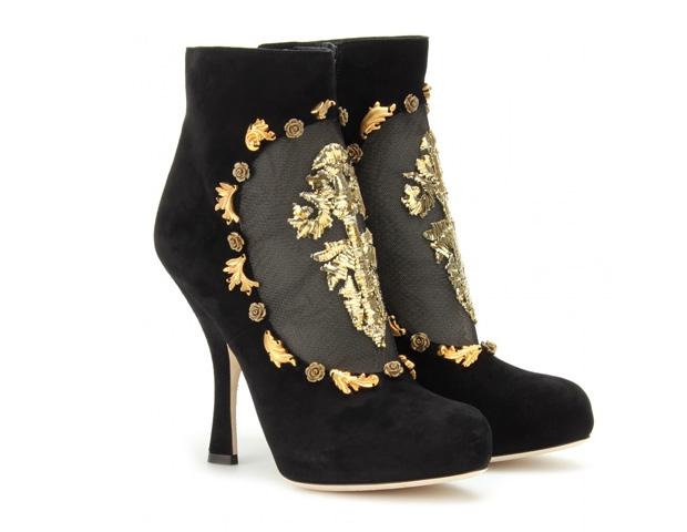 zapatos apliques oro