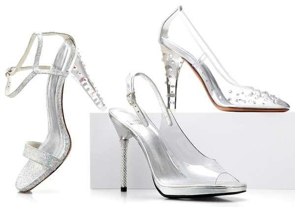 Nuevos zapatos de Cenicienta diseñador por Stuart Weitzman
