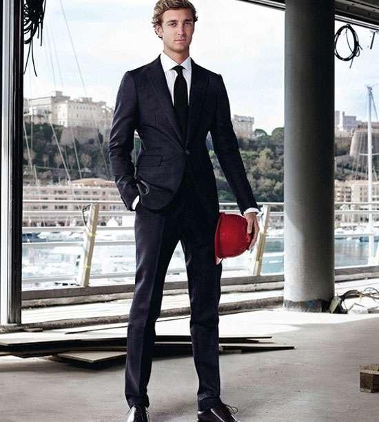 Pierre Casiraghi posa como modelo para Berlutti