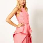 vestido asos rosa