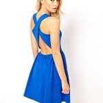 vestido azul asos