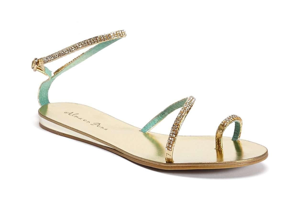 coleccion primavera verano 2014 alma en pena - sandalia plana brillante