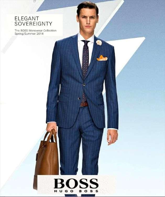 Vestido azul para hombre
