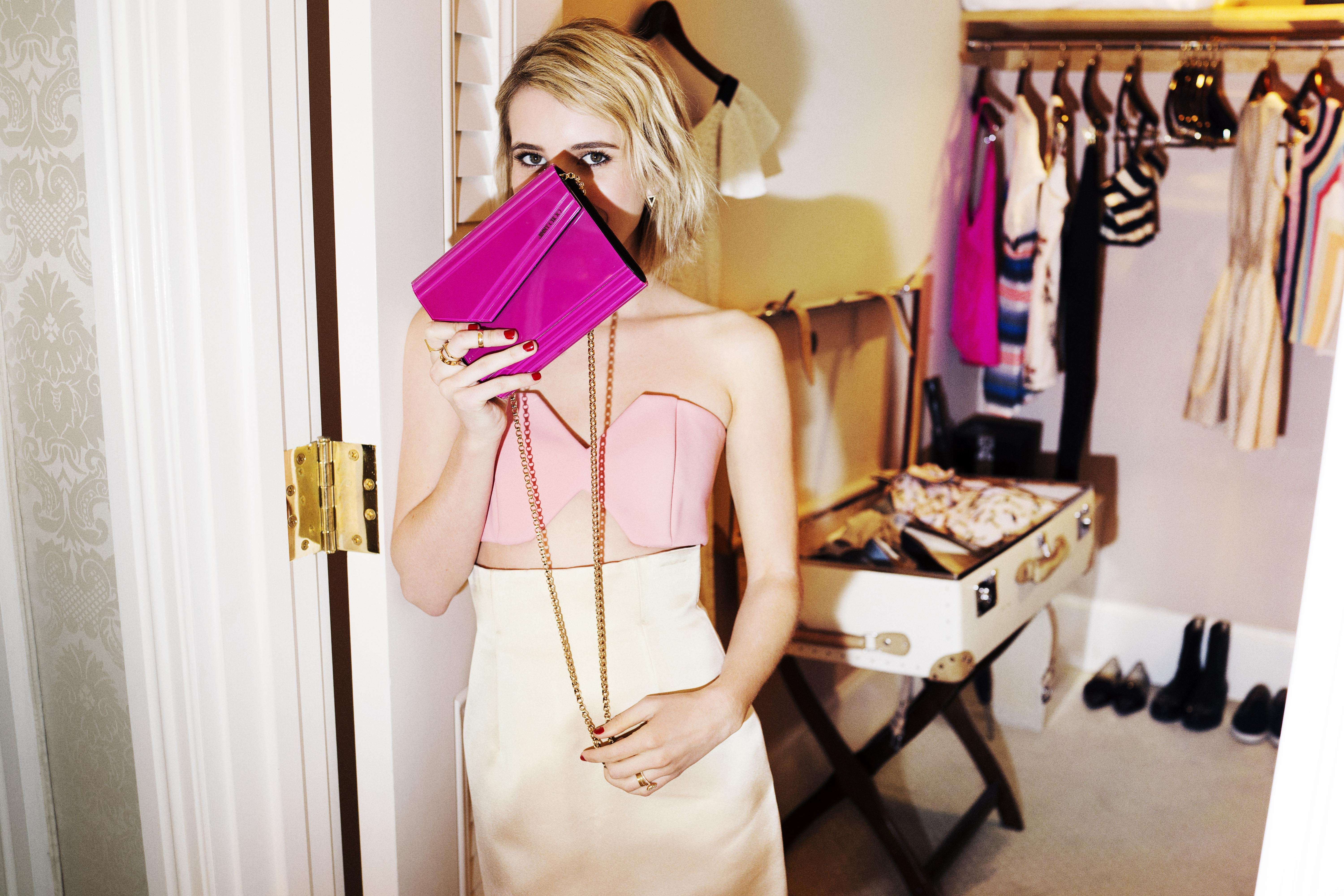 Emma Roberts wears Candy