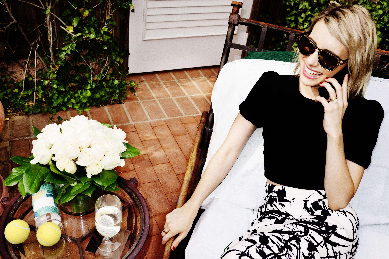 Emma Roberts wears Carrera