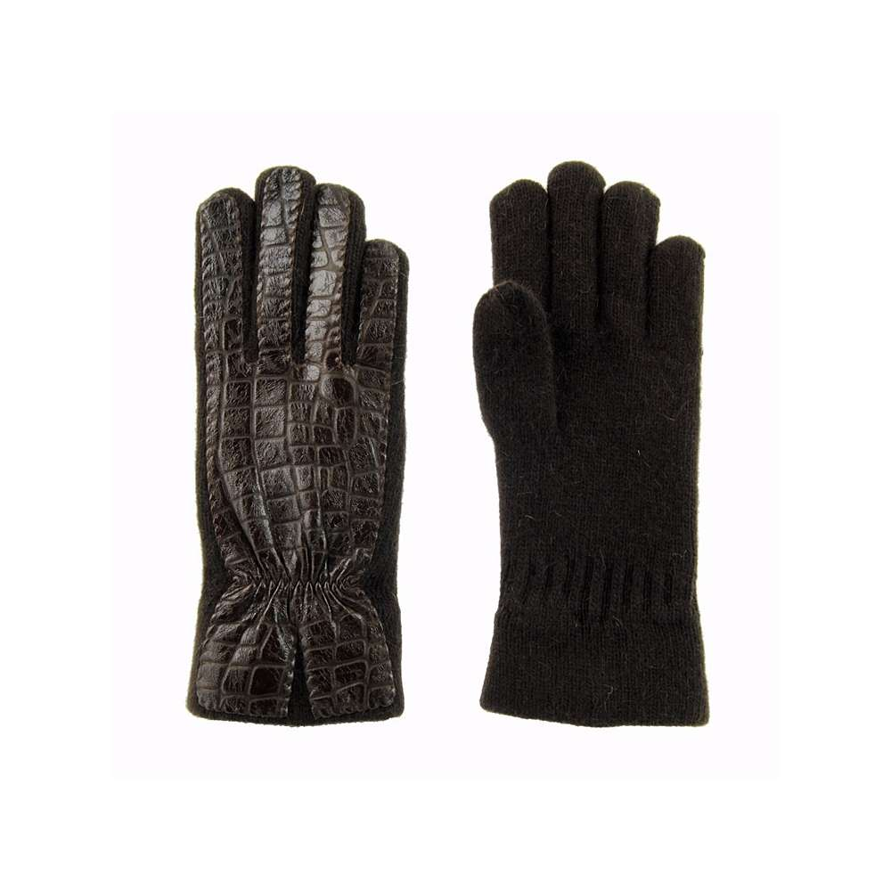 PAULA ALONSO - guantes-lana-y-piel-coco-marron