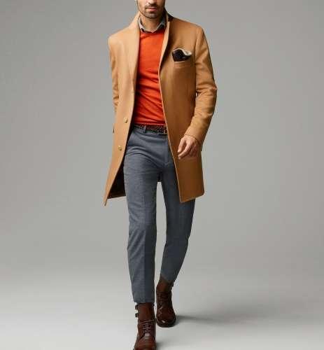 Abrigo beige hombre massimo dutti