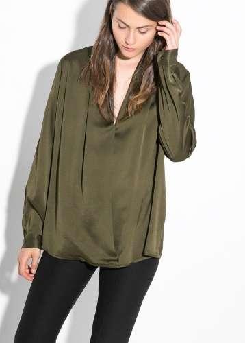 ropa mango army green